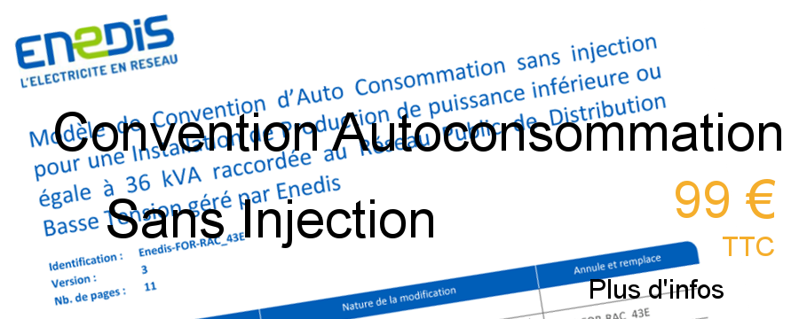 convention autoconsommation sans injection